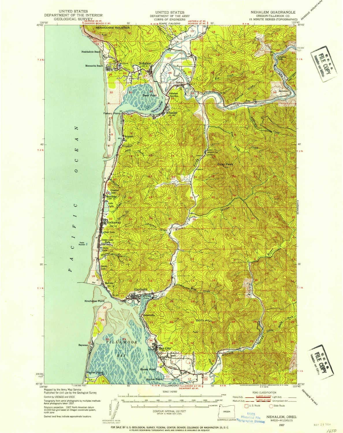 YellowMaps Nehalem OR topo map Max 84% OFF 1:62500 H 15 overseas X Minute Scale