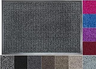 Jan Max Paillasson, Tapis de Sol antidérapant, Tapis de Porte d'entrée, Petit, 60 x 80 cm, Noir Gris Anthracite