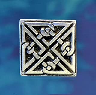 Square Celtic Knot Button   Celtic Buttons   Pewter Button   Set of Two Buttons