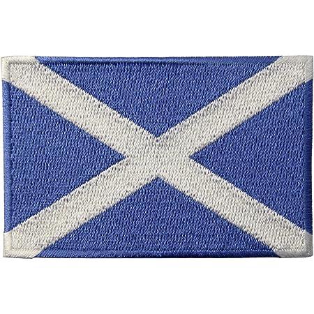 Bandiera della Scozia Emblema Scozzese Termoadesiva Cucibile Ricamata Toppa