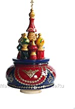 Carousel music box in Russian style tune Katyusha – unique baptism gift