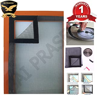 SAI PRASEEDA Mosquito Net for Window with Fiber Glass 4/3feet(120/90cm) 47/35Inches 1 Year Guarantee Already Stitched with...