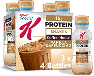 Kellogg's Special K Vanilla Cappuccino Protein Shakes - Meal Replacement, Gym Food, Pack of 3 (12 Count)