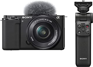 Sony Alpha ZV-E10L Interchangeable Lens Vlog Digital Camera with 16-50 mm Lens and Free Sony Wireless Grip with remote con...