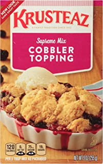Krusteaz Cobbler Topping Supreme Mix, 9-Ounce Boxes (Pack of 12)