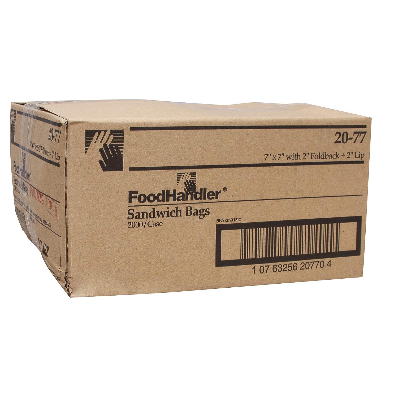 FoodHandler 20-77 High material Low Density Trust LDPE Sandwich Bags Pack x 7 o