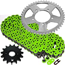 Caltric Green O-Ring Drive Chain & Sprockets Kit Fits SUZUKI GSF600S GSF-600S Bandit 600 2000-2003