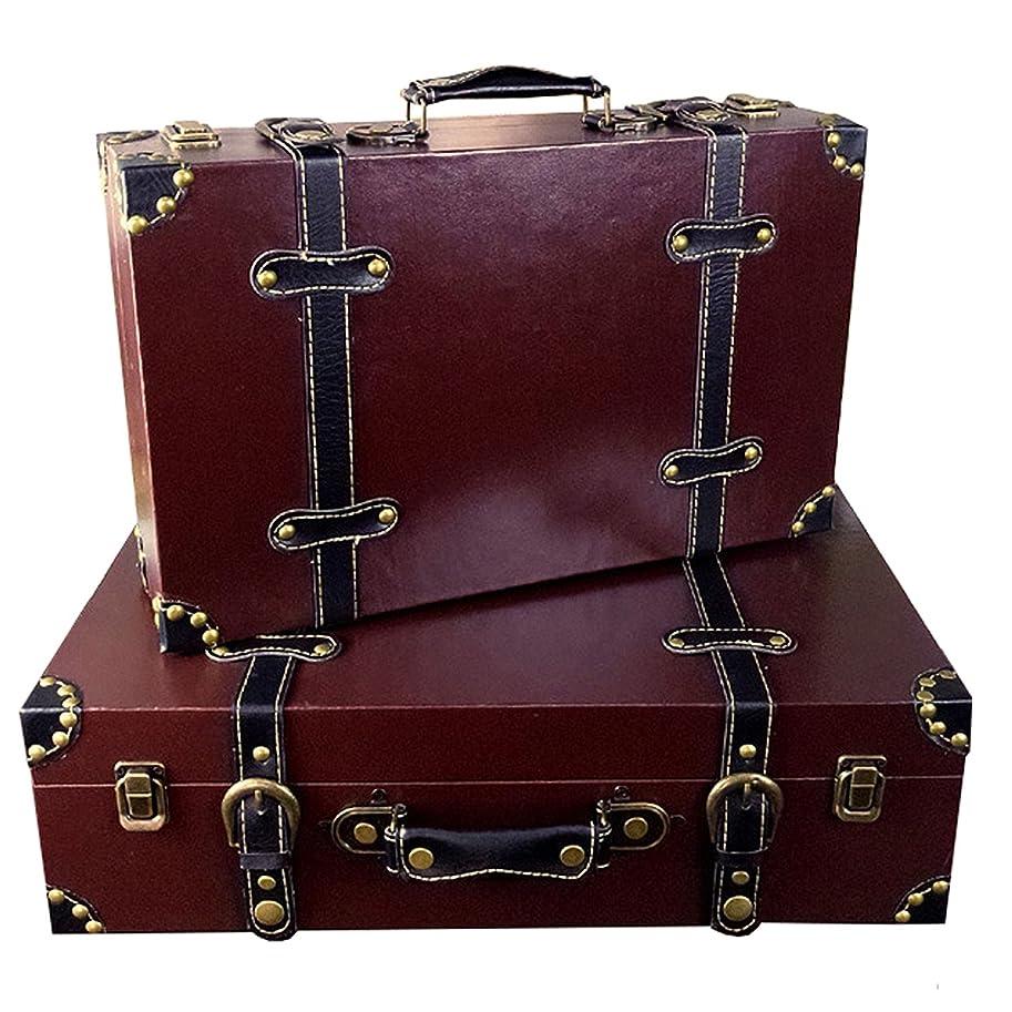 封筒メタンラフレシアアルノルディ[Agree With(アグリーウィズ)] スーツケース アンティーク調 トランクケース モダン レトロ ヴィンテージ 旅行 軽量