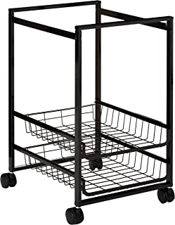 Advantus Mobile File Cart with 2 Sliding Baskets- Letter Size Suspension File, Black (34075)