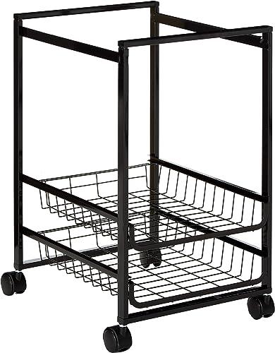 Mobile File voituret w Sliding paniers, 15w x 12-7 8d x 20-7 8h, noir