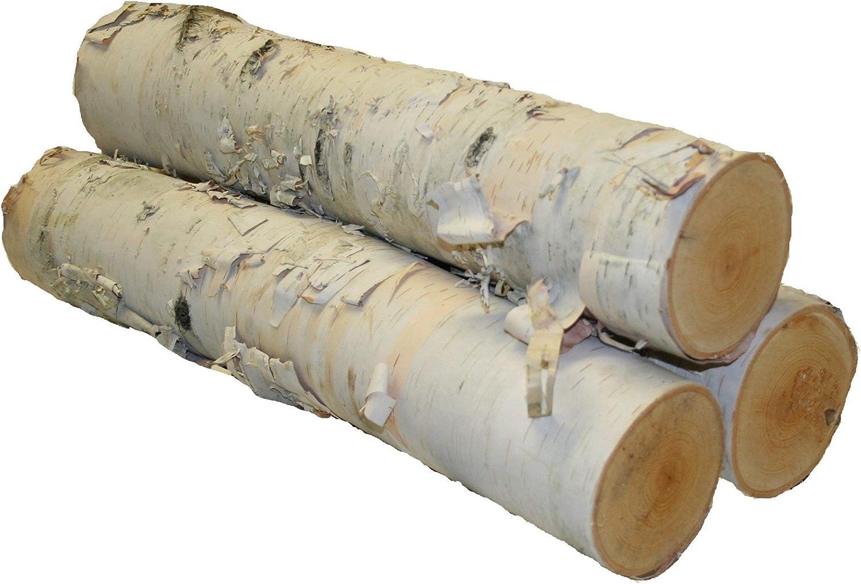 2021 new Wilson Enterprises free shipping Large Logs Set 3 White of Birch