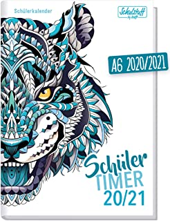 Planner settimanale 30x21 CAMPUS TIGER BLACK agenda planner da tavolo perpetua con spirale metallica
