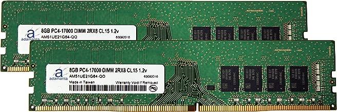 Adamanta 16GB (2x8GB) Memory Upgrade for Gigabyte GA-Z170X-Ultra Gaming DDR4 2133 PC4-17000 DIMM 2Rx8 CL15 1.2v RAM