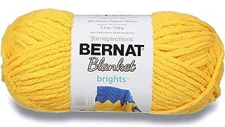 Bernat Blanket Brights Yarn, 5.3 oz, Gauge 6 Super Bulky Chunky, School Bus Yellow