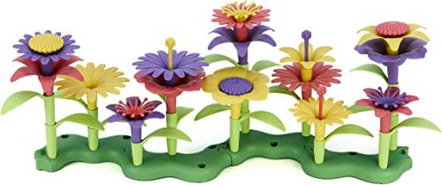 Green Toys Build-a-Bouquet Floral Arrangement Playset - BPA Free, Phthalates Free, Creative Play Toys for Gross Motor...