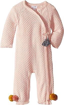 Pointelle Kimono Tassel One-Piece Playwear (Infant)