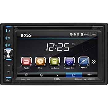 BOSS Audio Systems BV9371BD Car DVD Player - Double Din, Bluetooth Audio and Hands Free Calling, 6.2 Inch Touchscreen LCD, MP3, CD, DVD, USB, SD, Aux-in, AM/FM, Detachable Front Panel