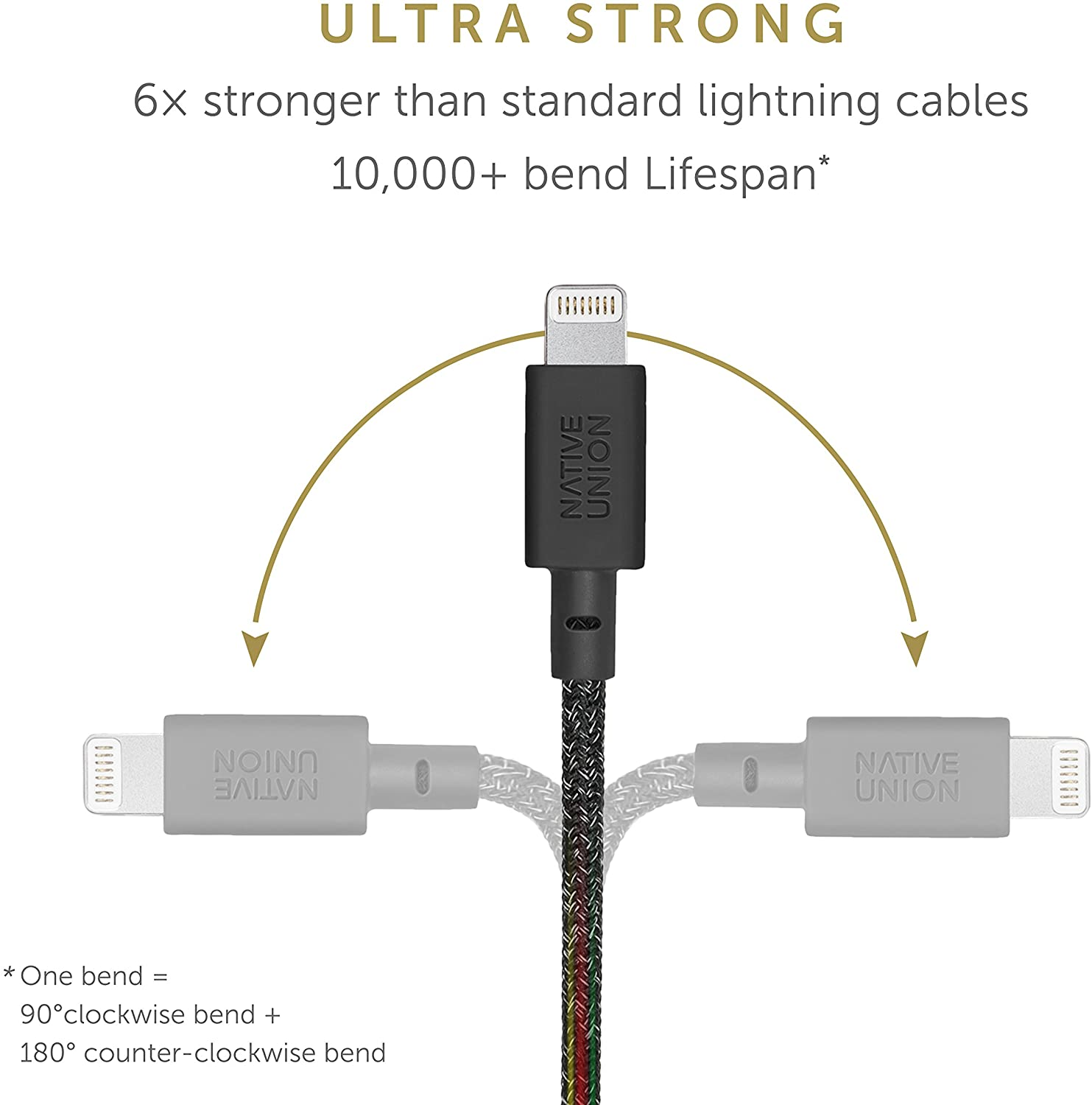 Native Union Key Cable - Ultra-Strong Reinforced [MFi Certified] Durable Lightning to USB-A High Speed Charging Cable with Key Fob Compatible with iPhone/iPad (Cosmos)