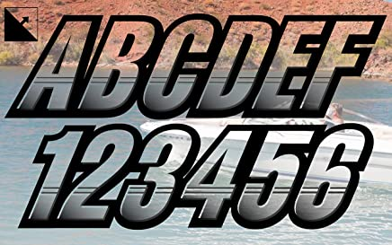 STIFFIE Whip-One Sky Blue 3 Alpha-Numeric Registration Identification Numbers Stickers Decals for Boats /& Personal Watercraft