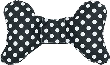 Original Baby Elephant Ears Head Support Pillow for Stroller, Swing, Bouncer, Changing Table, Car Seat, etc. (Black Dot)