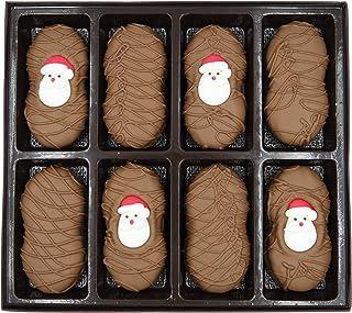Philadelphia Candies Milk Chocolate Covered Nutter Butter Cookies, Christmas Santa Claus Net Wt 8 oz