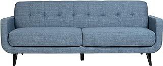 Handmade Casper Blue Mid-Century Modern Tufted Sofa - 34