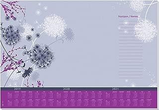 SIGEL HO400 Paper Desk Pad, Design Whisper, with 3-Year Calendar, 30 Sheets, 59.5 x 41 cm, 80 GSM