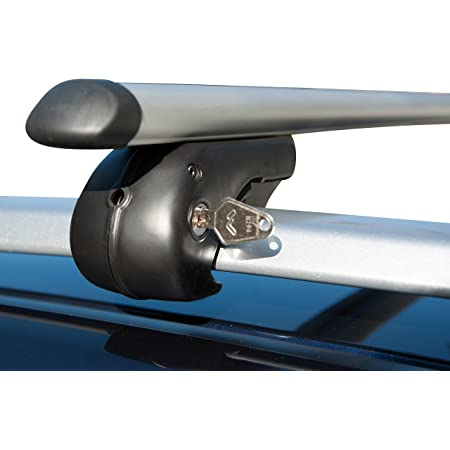 Fischer Aluminium Relingträger Topline Größe L Länge 1 20 M Mit Schloss Für Fahrradträger Dachbox Uvm Bis 90 Kg Belastbar Auto