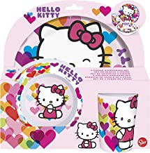Stor Without Rim Dinnerware Set - 3 Pieces,Pink,Melamine
