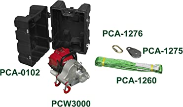 Portable Winch Co. PCW3000-BK 1550-lb. Gas-powered Portable Winch with Case and Accessories