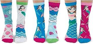 Mermazing United Oddsocks, caja de 6 calcetines para mujer de 4 a 8 EUR 37 a 42 US 6,5 a 10,5 pulgadas