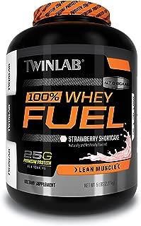 Twinlab 100% Whey Fuel Protein Powder, Strawberry, 5 Pound