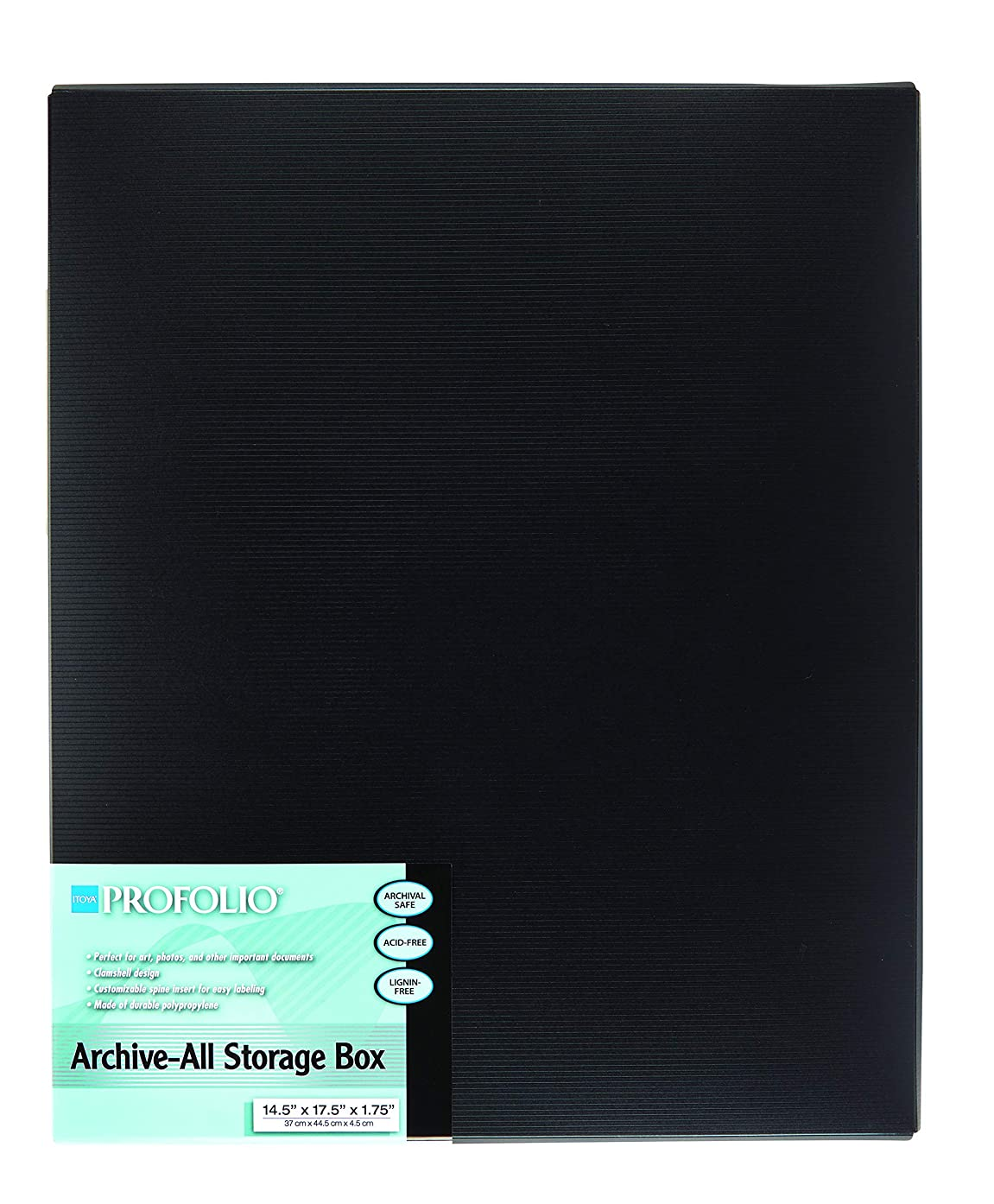 ProFolio by Itoya, Archive-All Storage Box - Black, 14.5 x 17.5 x 1.75 Inches