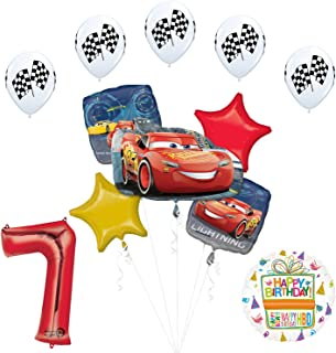 Disney Cars 3 Lighting McQueen 7th Birthday Party Supplies and Balloon Decorations