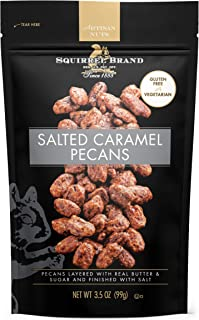 SQUIRREL BRAND Artisan Nuts, Salted Caramel Pecans, 3.5 Ounce, Pack of 6
