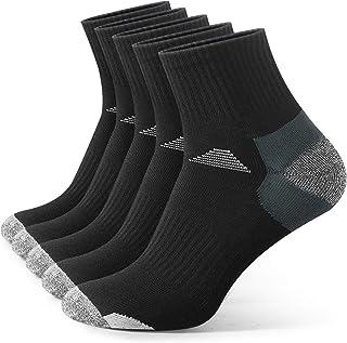 Toupons Men's Athletic Socks, 5 Pairs Cotton Quarter Socks Mens Sports Socks Four Season Socks for Outdoor Running Walking...