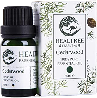 Healtree Cedarwood Pure Essential Oil 10ml, Natural Aromatherapy, Australian Owned and Made, Highest Purity, Purify Air
