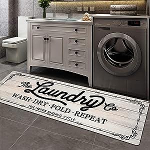 Pauwer Farmhouse Laundry Room Rug Runner 20
