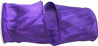 Reliant Ribbon 92975W-064-10F Dupioni Supreme Wired Edge Ribbon, 4 Inch X 10 Yards, Purple