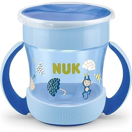 NUK - NUK Mini Magic Cup taza para sorber | Borde a prueba de derrames de 360° | +6 meses | Asas para facilitar la sujeción | Sin BPA | 160ml | Mono (azul)