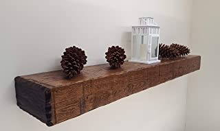 #1003 Country Hand Hewn Oak Fireplace Mantel Unfinished (Stain and Finish to Match Your Decor) (5x9x84)