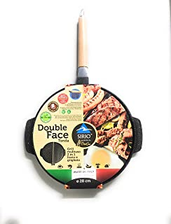 Haute qualit/é Po/êle Double Face Grill Po/êle /À Frire Casseroles Double Face Pan Steak Steak Fry Pan Pancake en Plein air Cuisine Fournitures