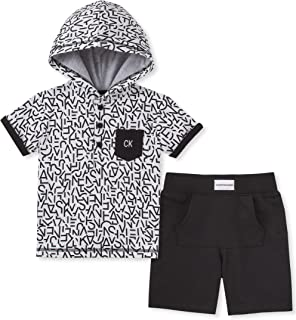 Baby Boys 2 Pieces Hoody Shorts Set