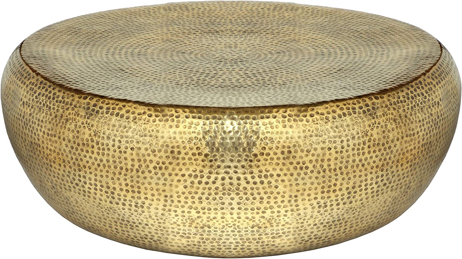 Odelette Modern Round Hammered Aluminum Go Coffee Antique Outlet sale Safety and trust feature Table