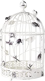 ELEMENTS White Arch Candle Holder, Metal Birdcage Candleholder, 20-Inch