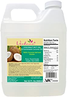 Verdana Coconut MCT Oil, Fractionated, Genuine 100% Coconut Derived,Kosher Certified Food Grade, Vegan, NON-GMO, Great for...