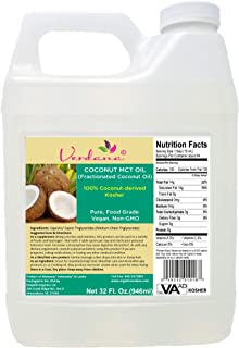 Verdana Coconut MCT Oil - Fractionated Coconut Oil - 32 Fl. Oz – Kosher Food Grade - Genuine 100% from Coconut - Only C8 & C10 – for Keto, Paleo, Sports Nutrition, Aromatherapy, Massage, Tinctures