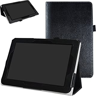 Verizon Ellipsis 10 Case,Mama Mouth PU Leather Folio 2-Folding Stand Cover for 10.1