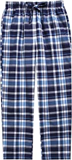 TINFL 6-14 Years Big Boys Plaid Check Soft Lightweight 100% Cotton Lounge Pants