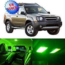 SCITOO LED Interior Lights 8pcs Green Package Kit Accessories Replacement for 2002-2004 Nissan Xterra